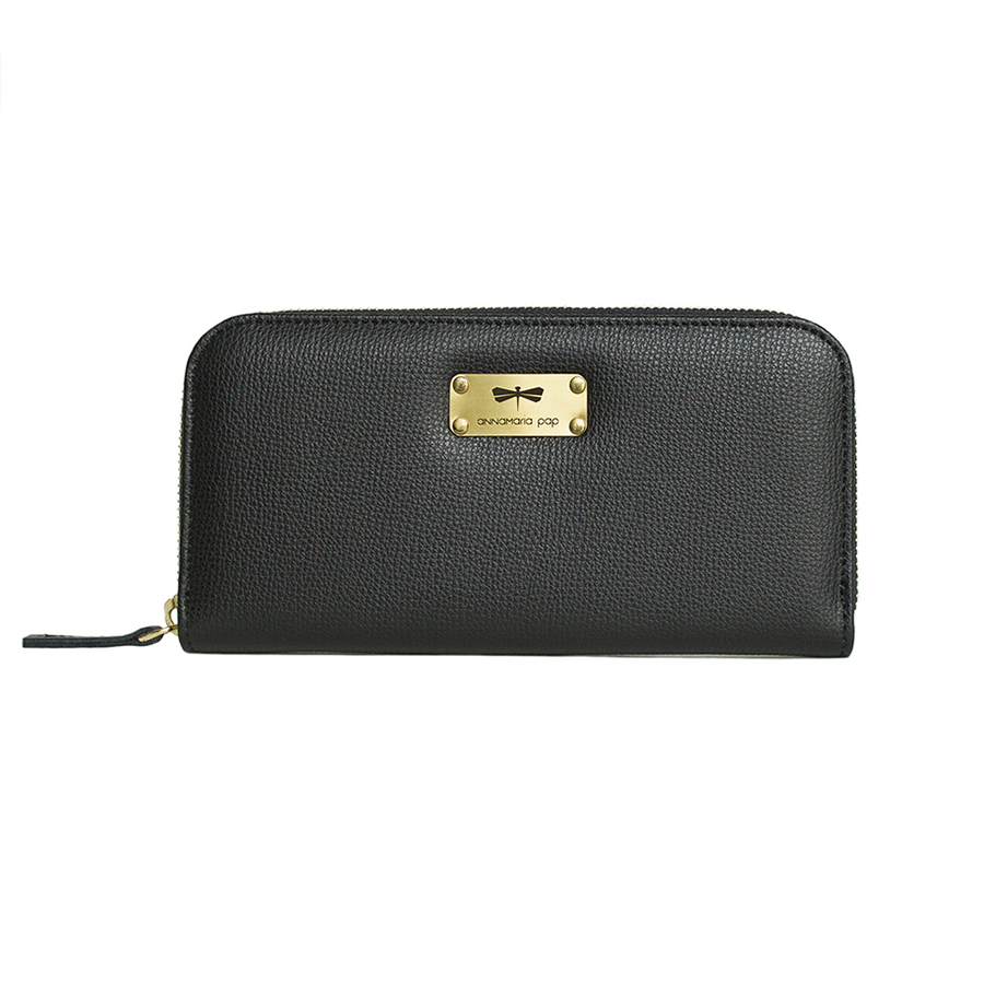 LILIAN Black leather wallet