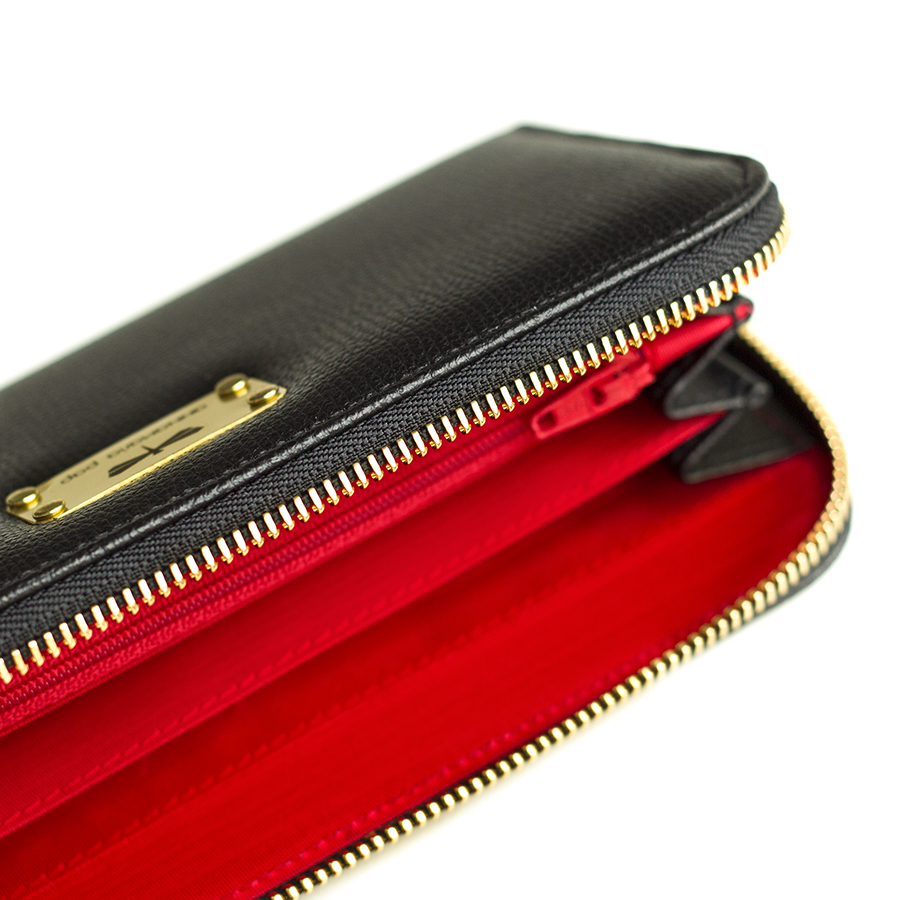 LILIAN Black leather wallet