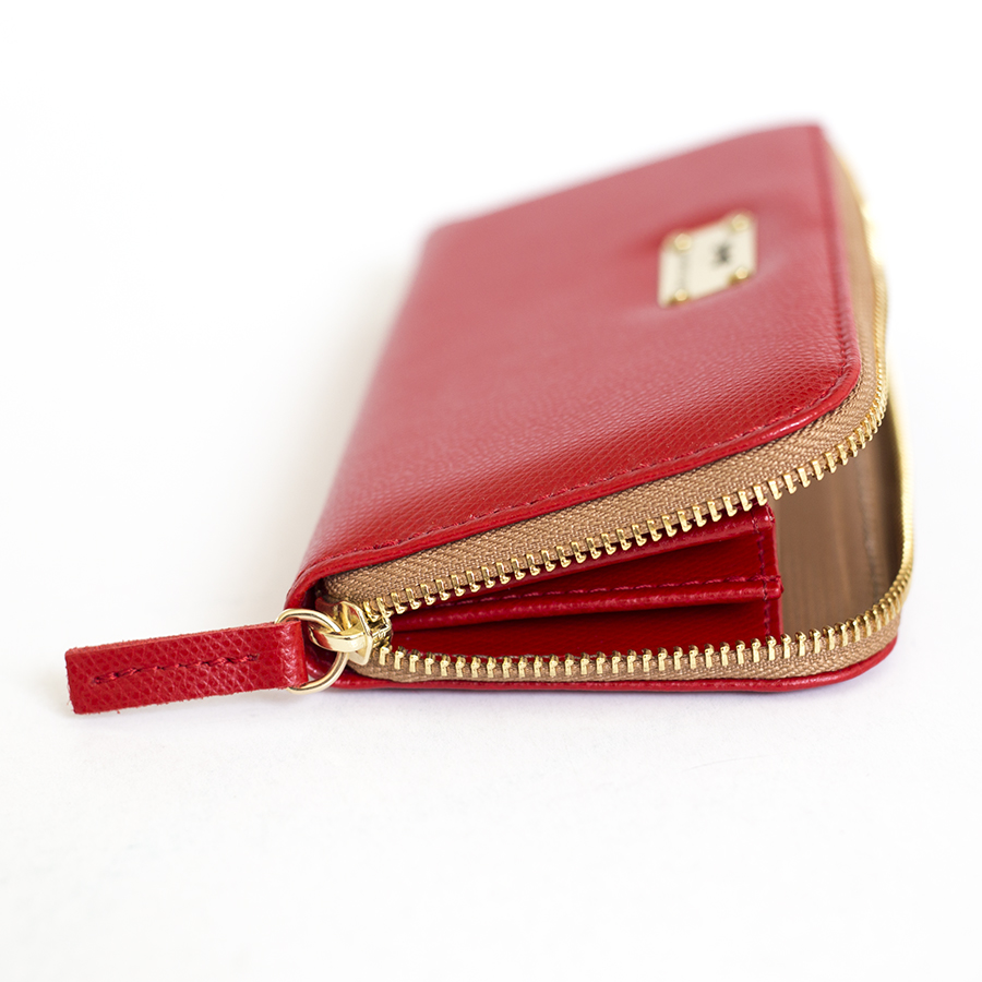 LILIAN Sour Cherry leather wallet
