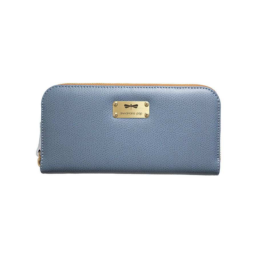 LILIAN Denim leather wallet