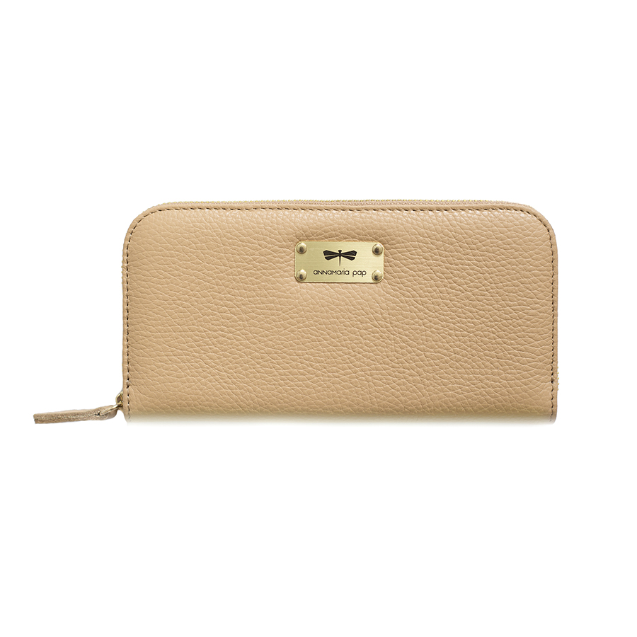 LILIAN Sand leather wallet