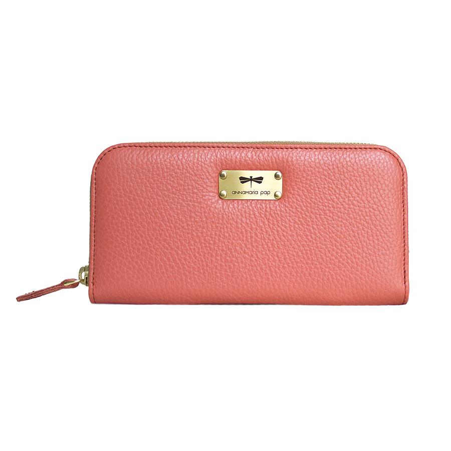 LILIAN Korall bőrpénztárca