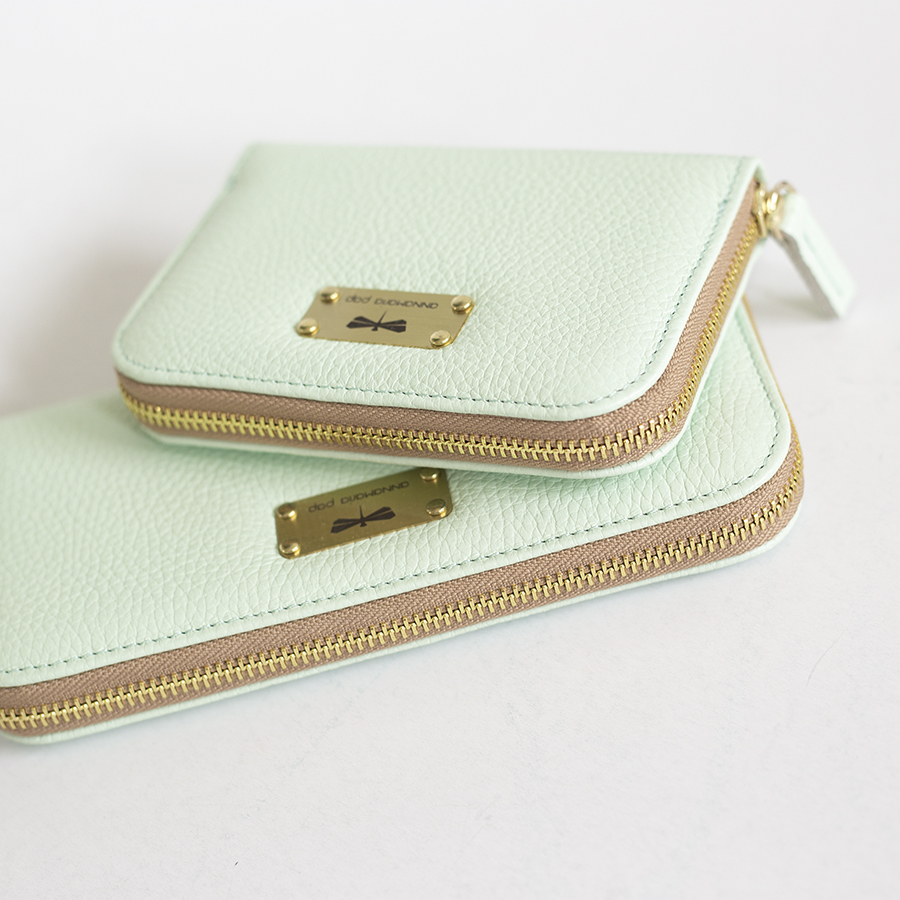 LILIAN Mint leather wallet