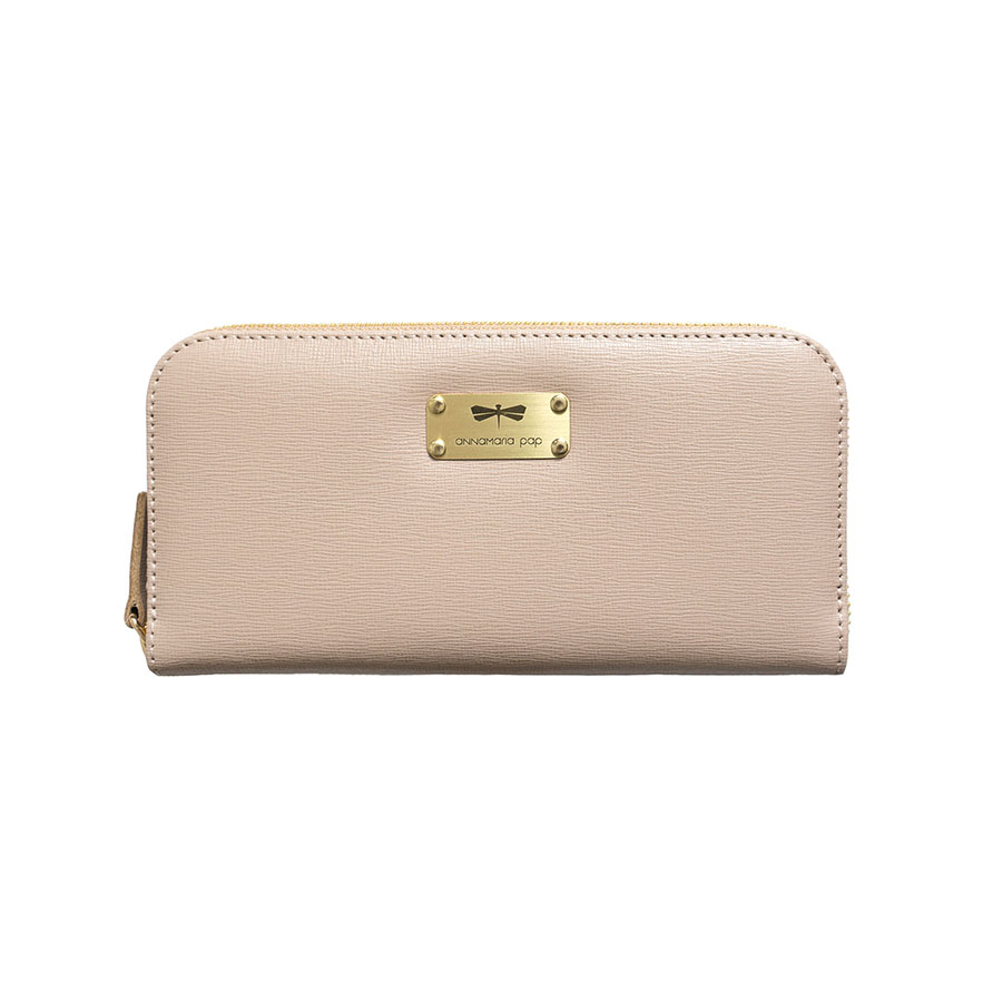 LILIAN Nude leather wallet