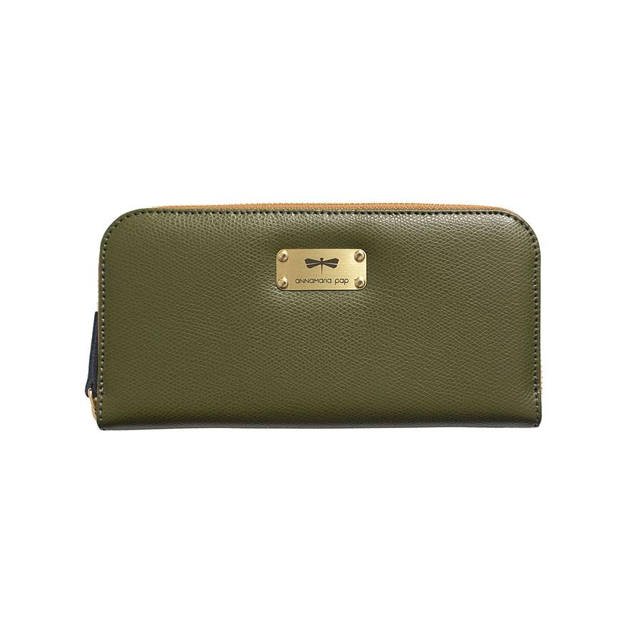 LILIAN Olive leather wallet