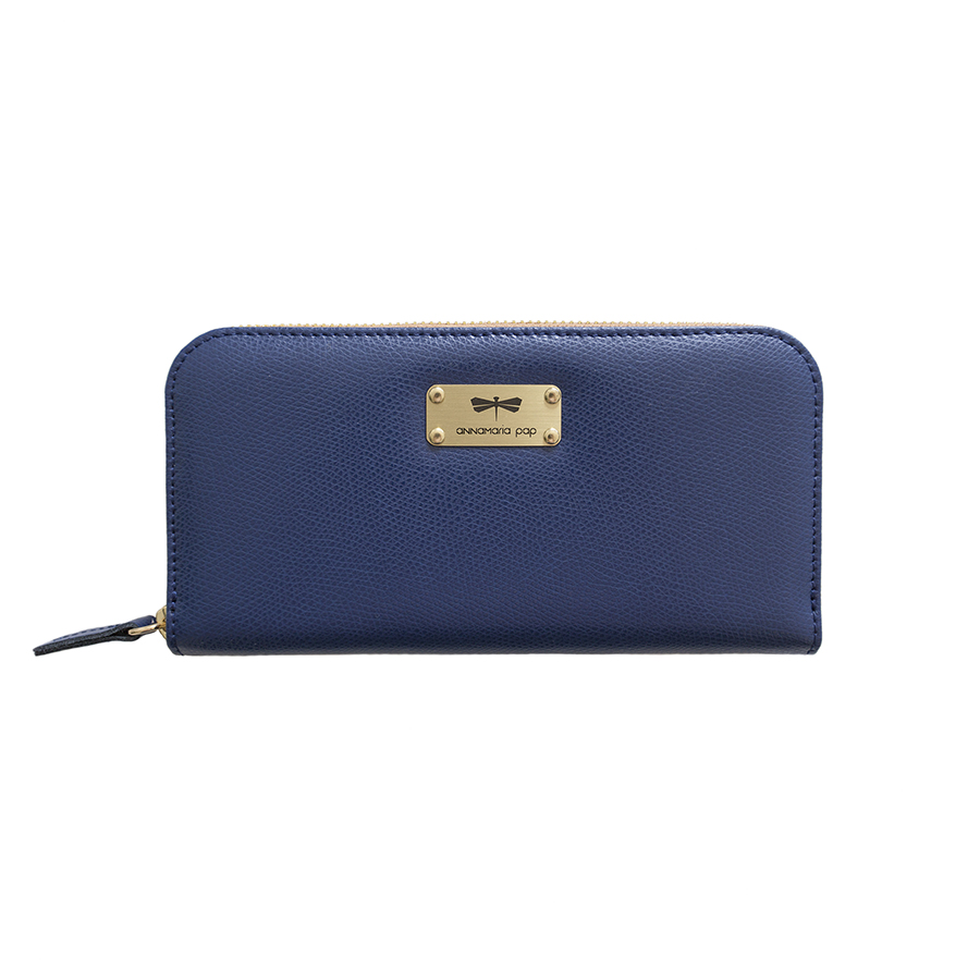 LILIAN Navyblue leather wallet