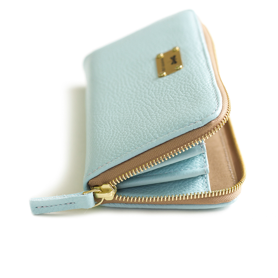 LILIAN Ocean leather wallet