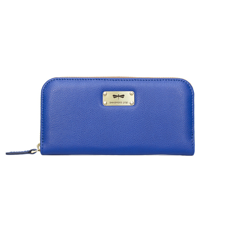 LILIAN Royalblue leather wallet