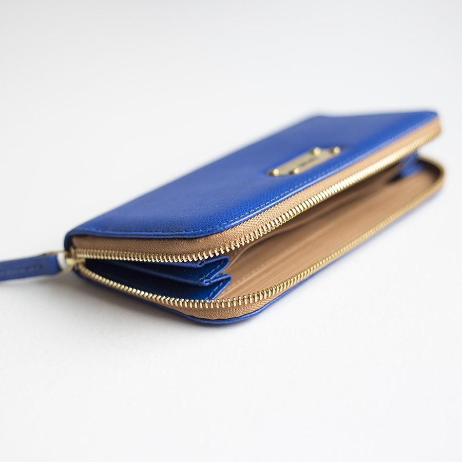 LILIAN Royalkék bőrpénztárca