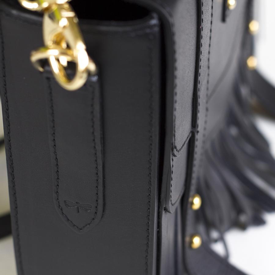 LINA black bőrtáska