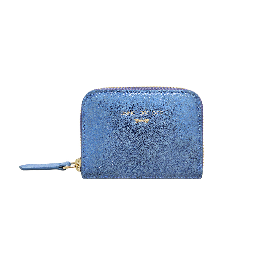 LISA Blue glitter leather wallet