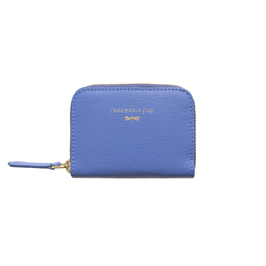 LISA Plum blue leather wallet
