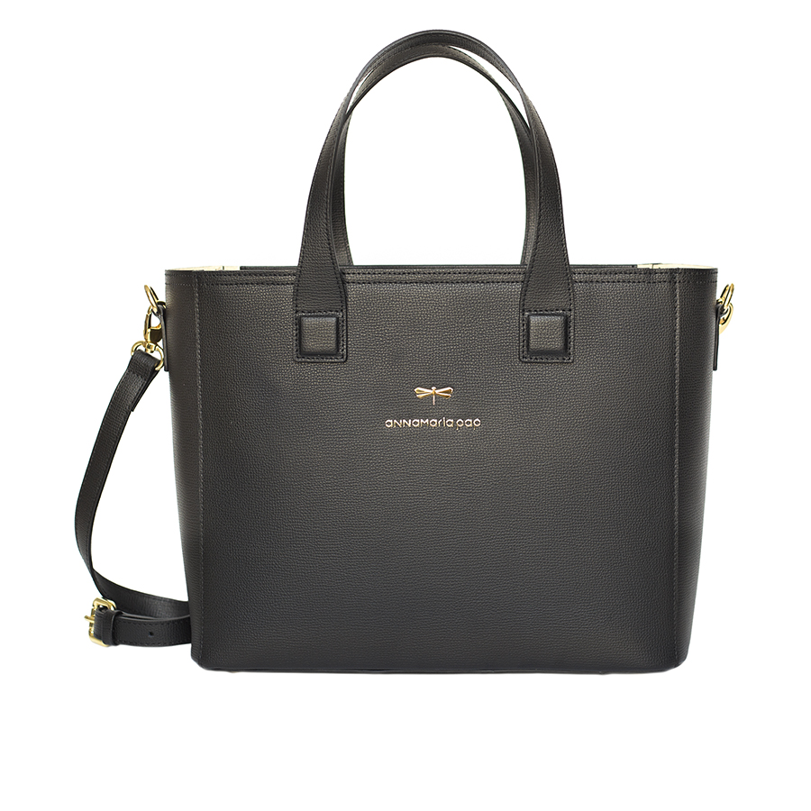 LORI Black leather handbag