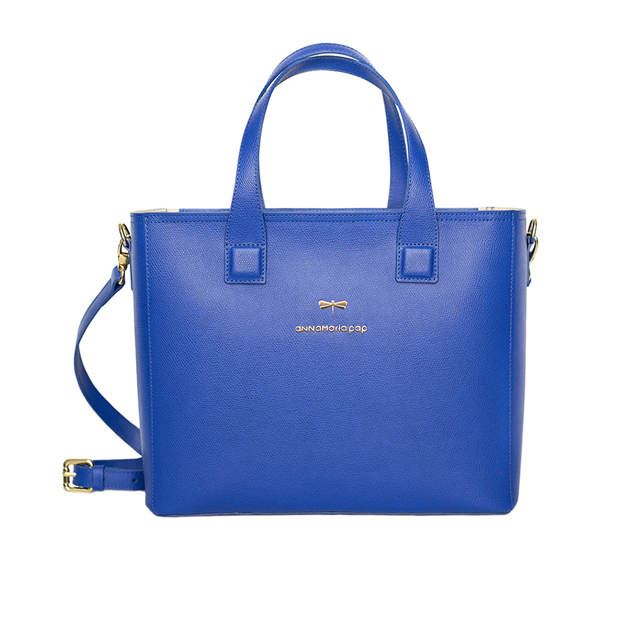 LORI Royalblue leather handbag
