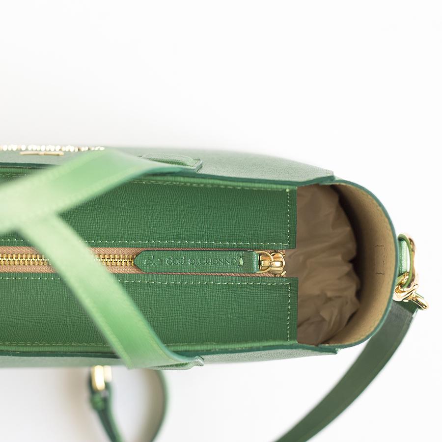 LORI Smaragdzöld bőrtáska