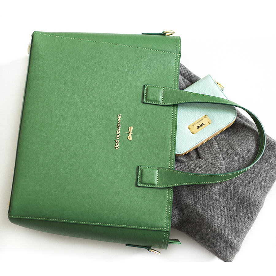 LORI Emerald leather handbag