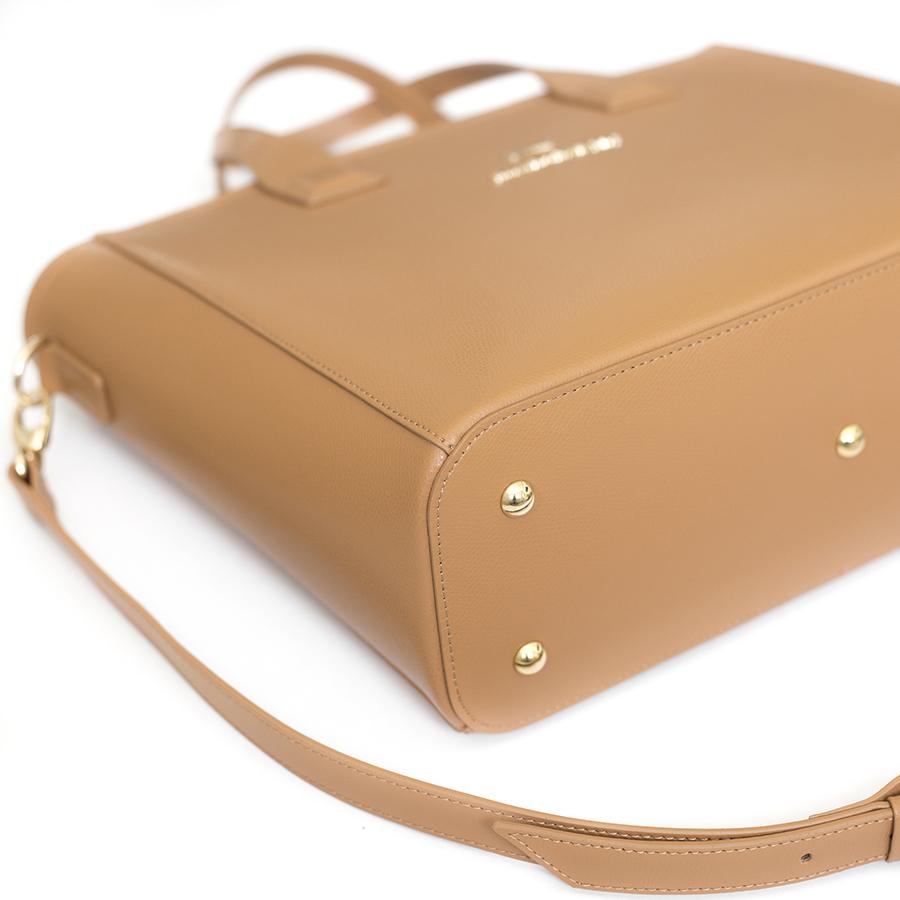 LORI Toffee leather handbag