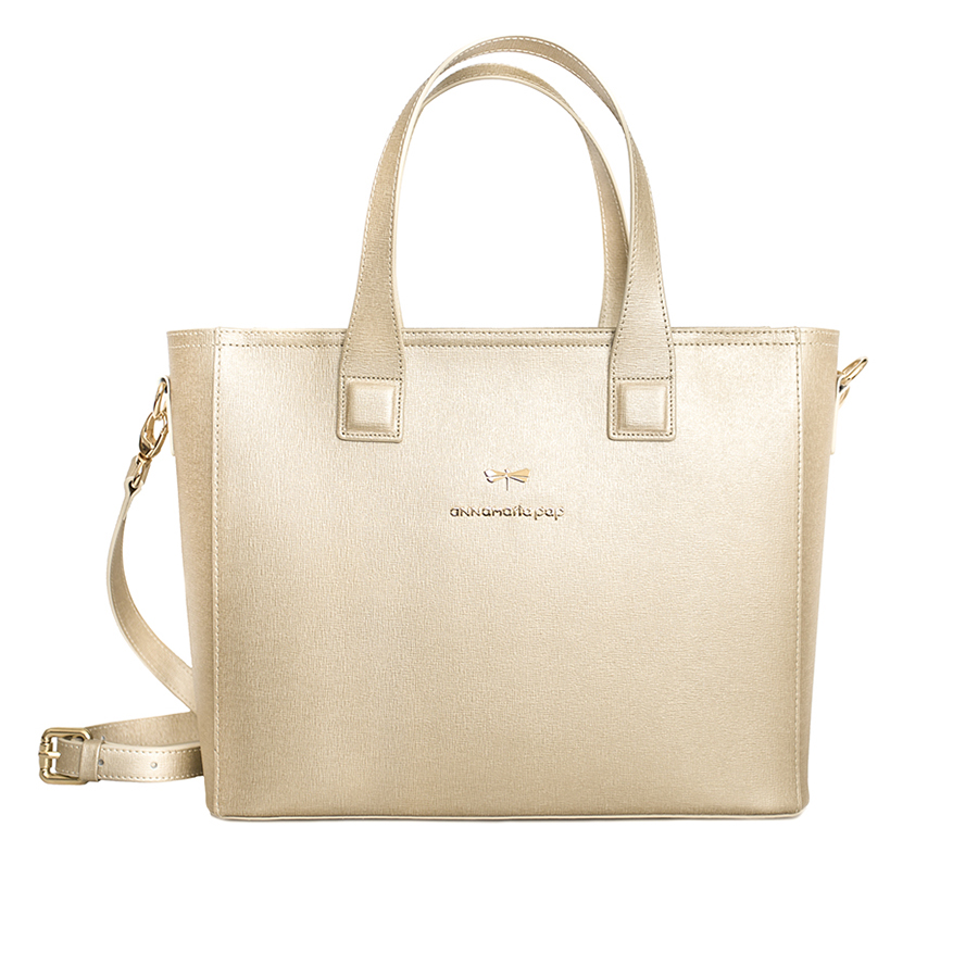 LORI Gold leather handbag