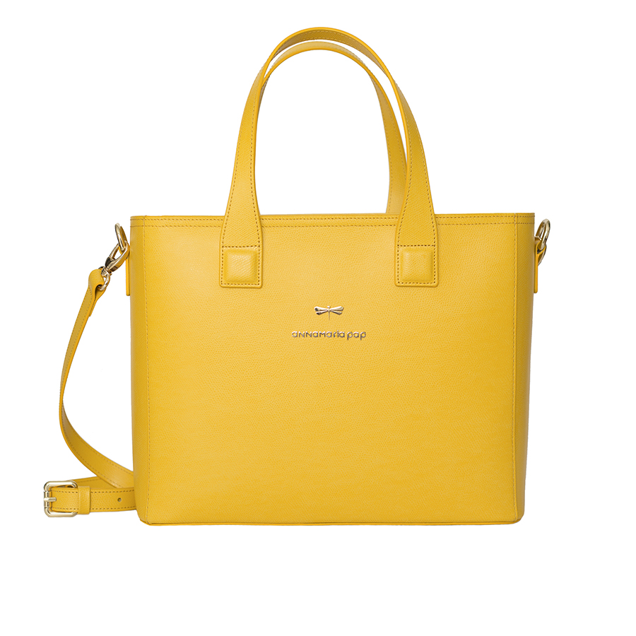 LORI Sunshine leather handbag