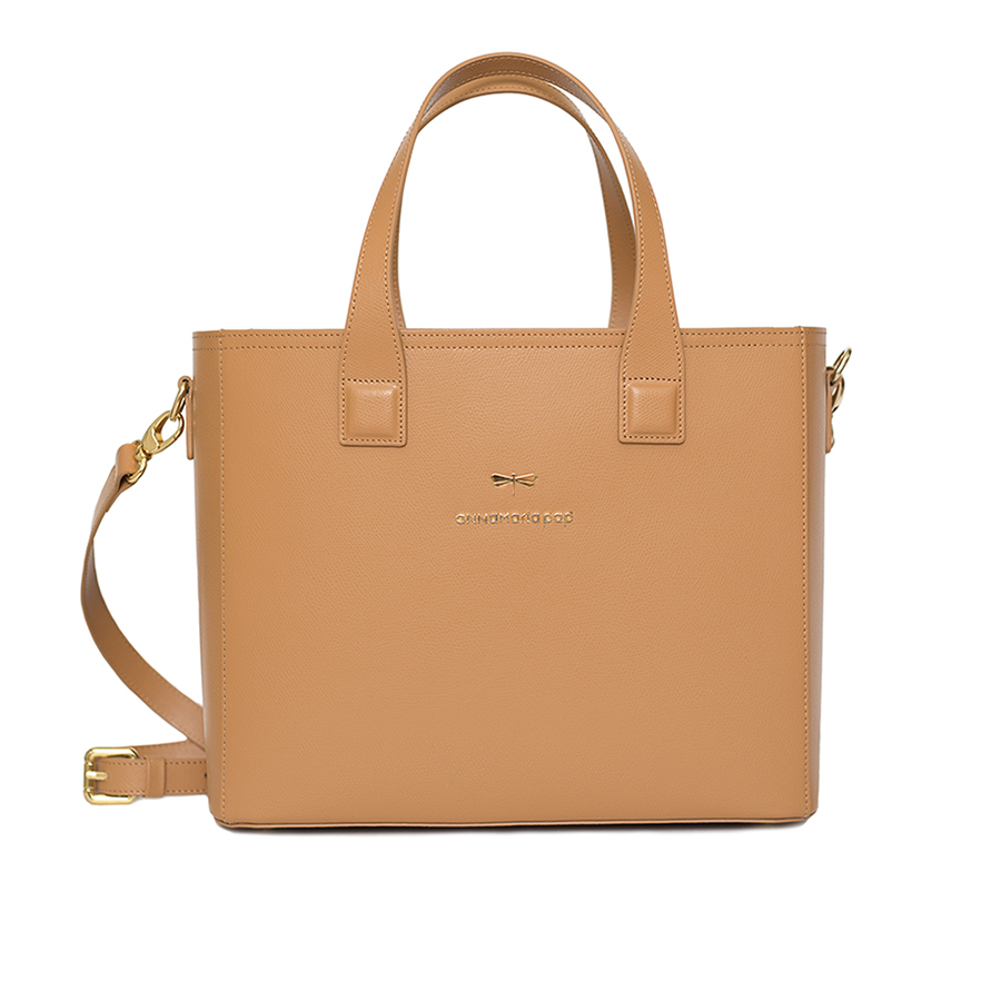 LORI Toffee leather handbag