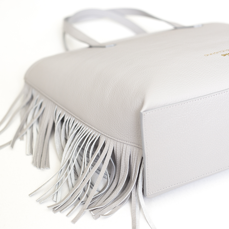 LUCY Light grey leather bag