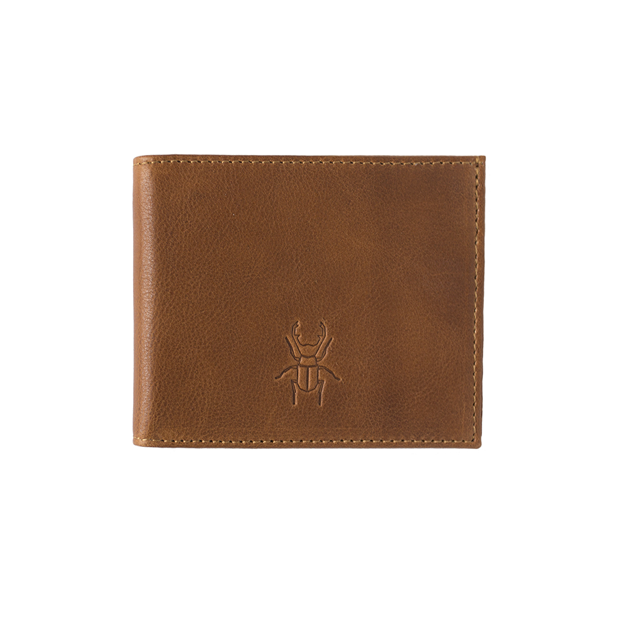 JACK brown leather wallet with coin holder