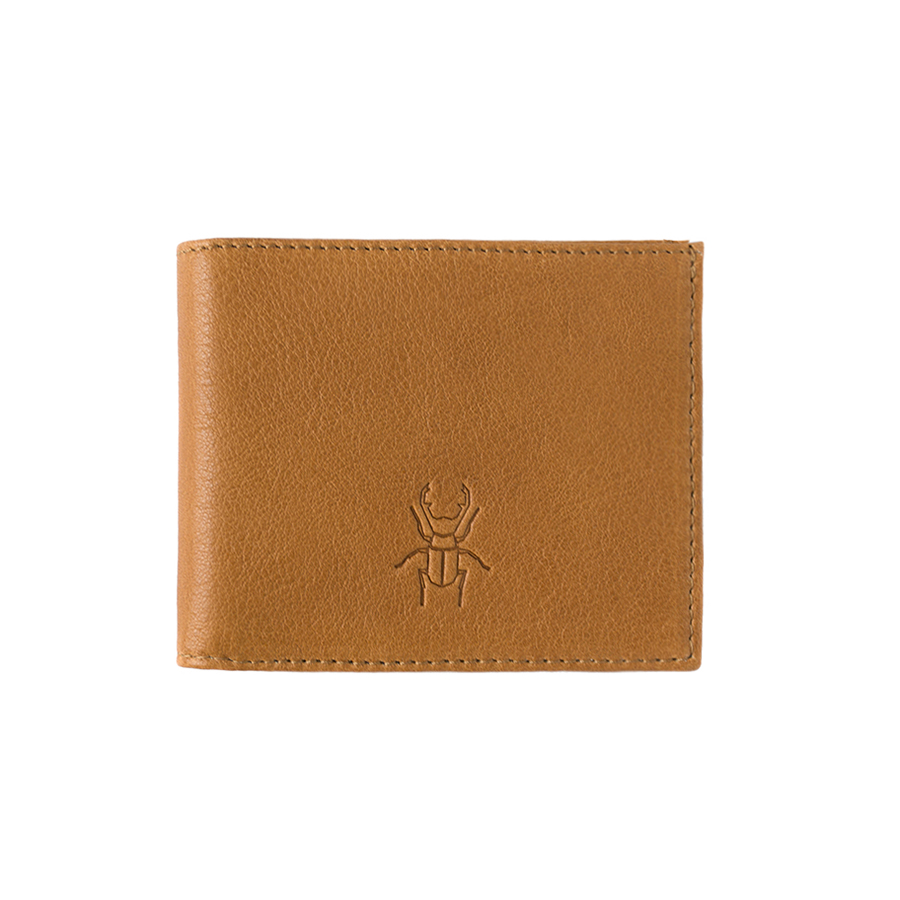 JACK cognac leather wallet (without coin holder)