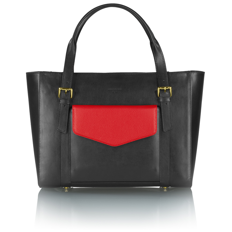 ANN-MARIE manager leather bag + red clutch