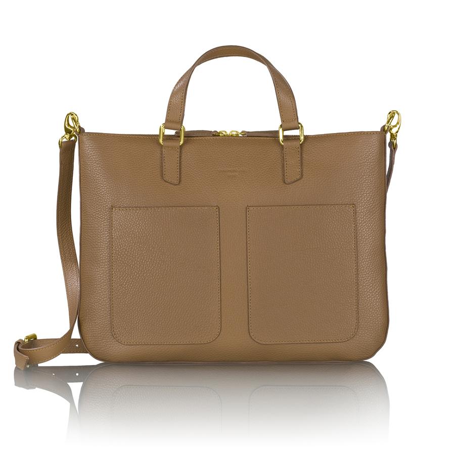 MARIE bőr laptop táska (brown)