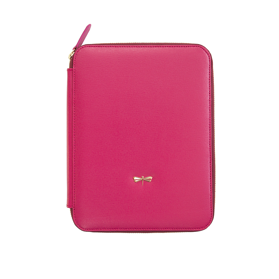 ARIA Raspberry leather case (smaller)