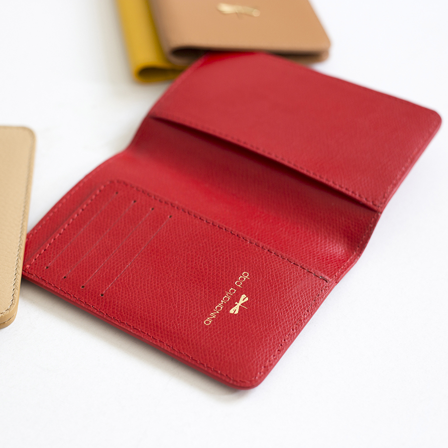 MONA Sour Cherry leather case