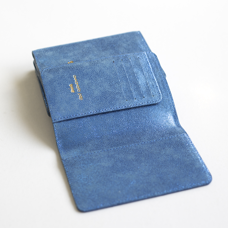 MONA Blue sparkling leather case