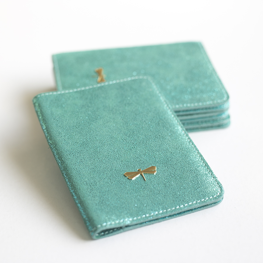 MONA  Turquoise sparkling leather case
