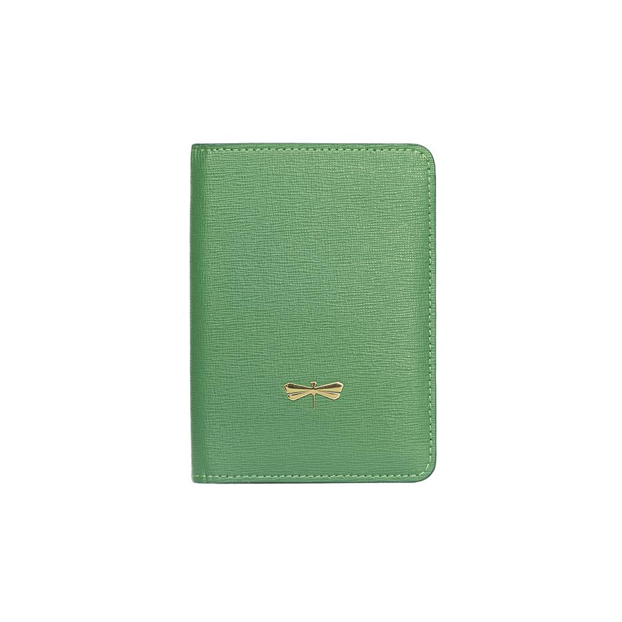 MONA Smaragdzöld bőr útlevéltartó