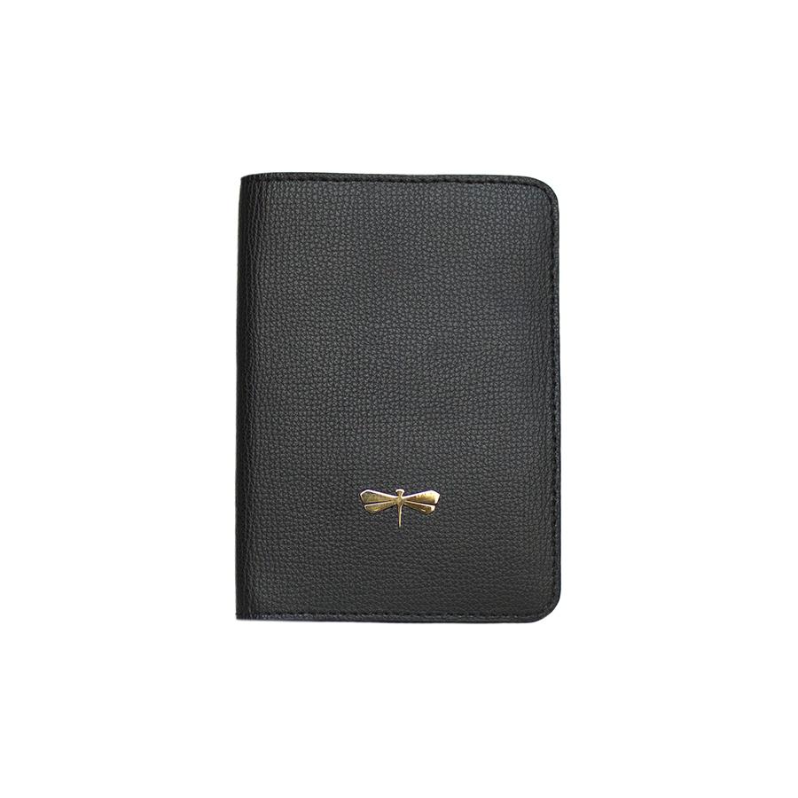 MONA Black bőr útlevéltartó