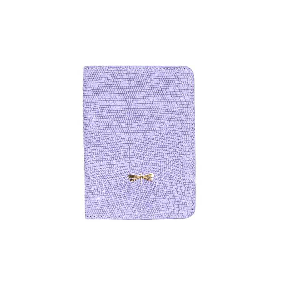 MONA Lilac bőr útlevéltartó