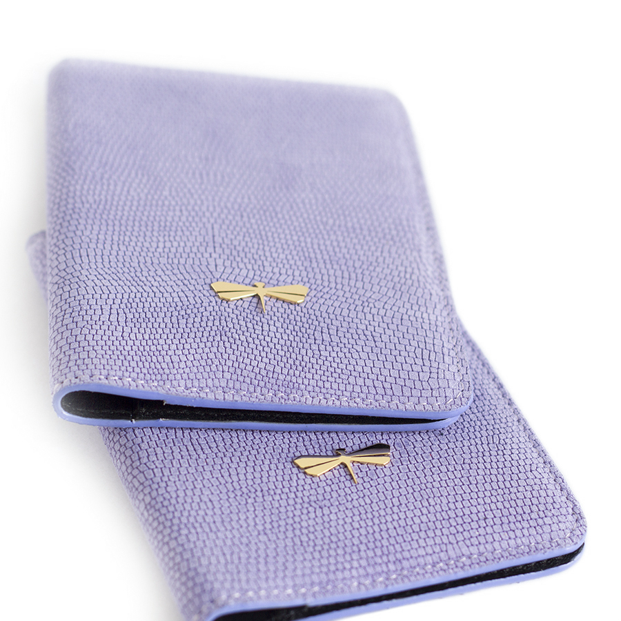 MONA Lilac leather case
