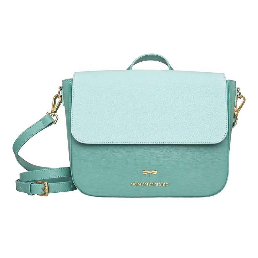 NINA Turquoise & Ocean leather bag