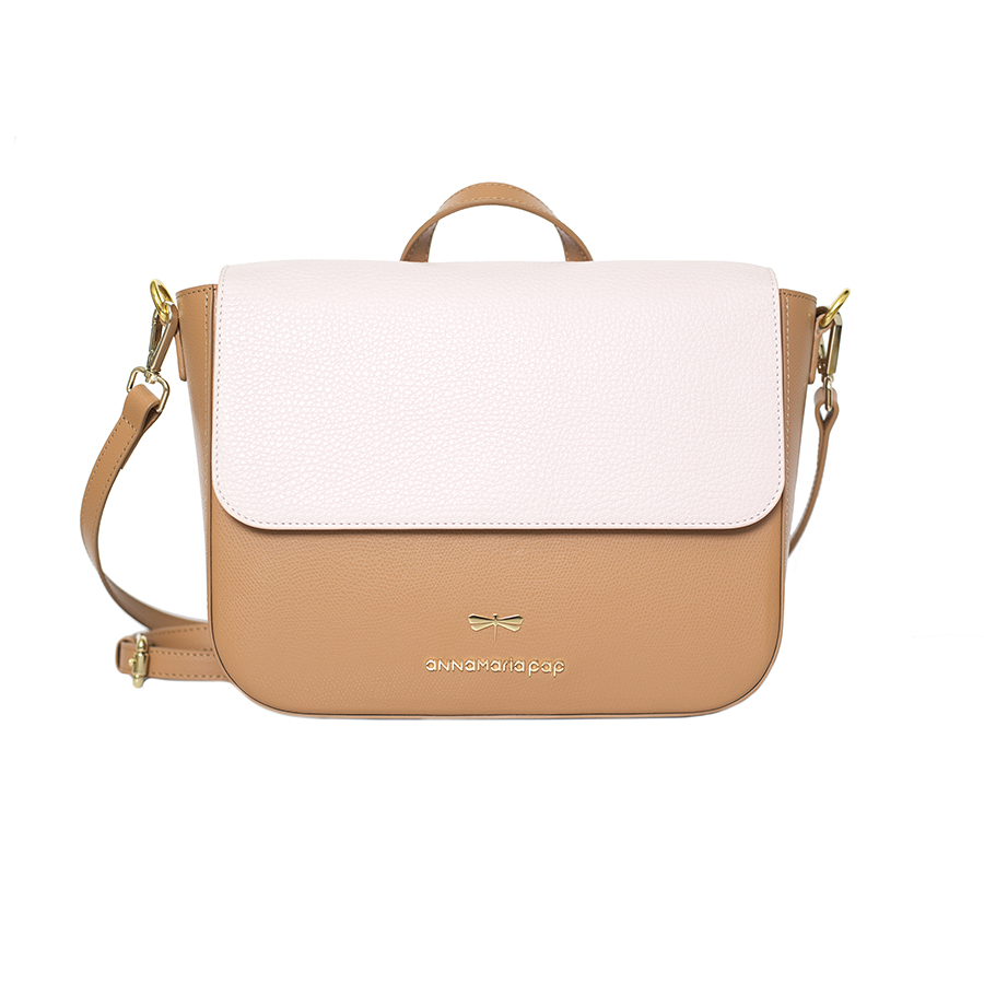 NINA Toffee & Powder leather bag