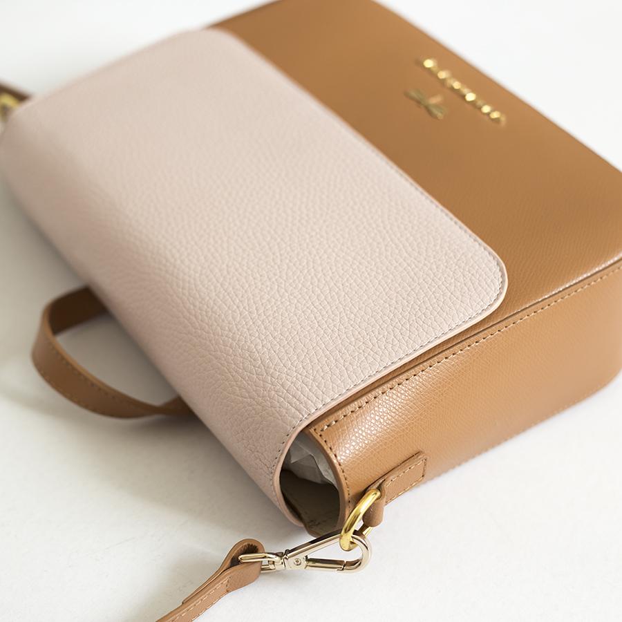NINA Toffee & Powder leather bag