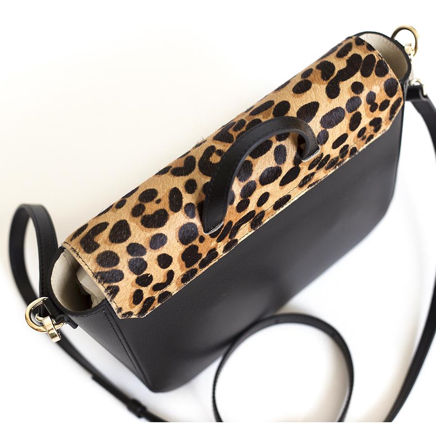 NINA Black & Leo leather bag