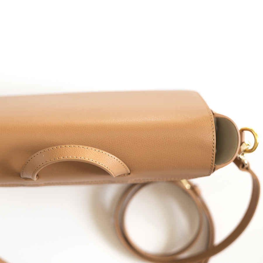 NINA Toffee leather bag