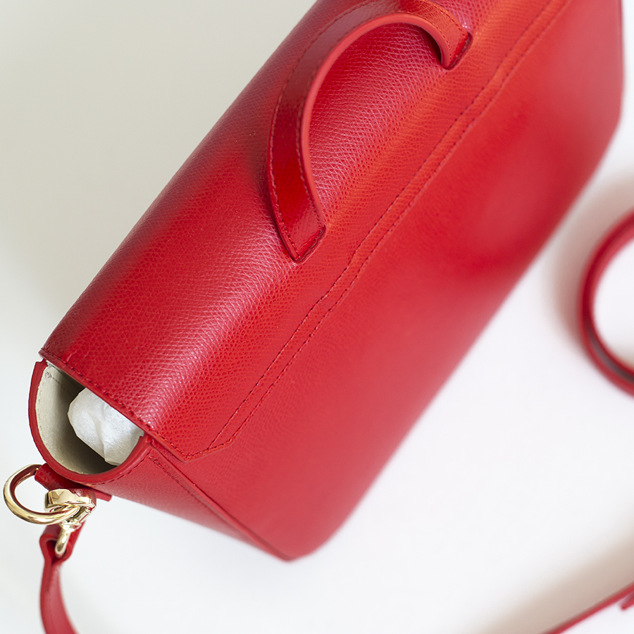 NINA Sour Cherry leather bag