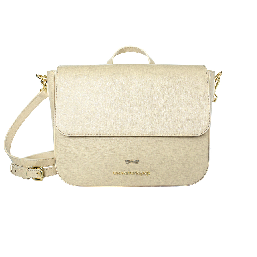 NINA Beige leather bag
