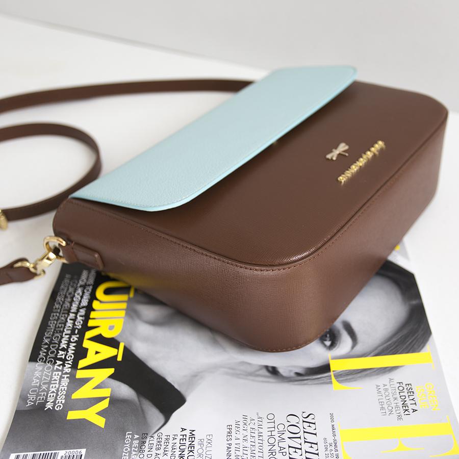 NINA Chocolate & Ocean leather bag