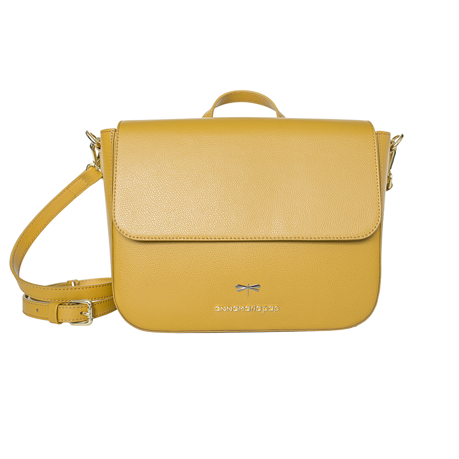 NINA Mustard leather bag