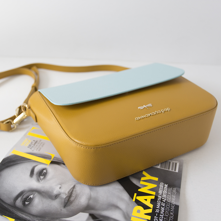 NINA Mustard & Ocean leather bag