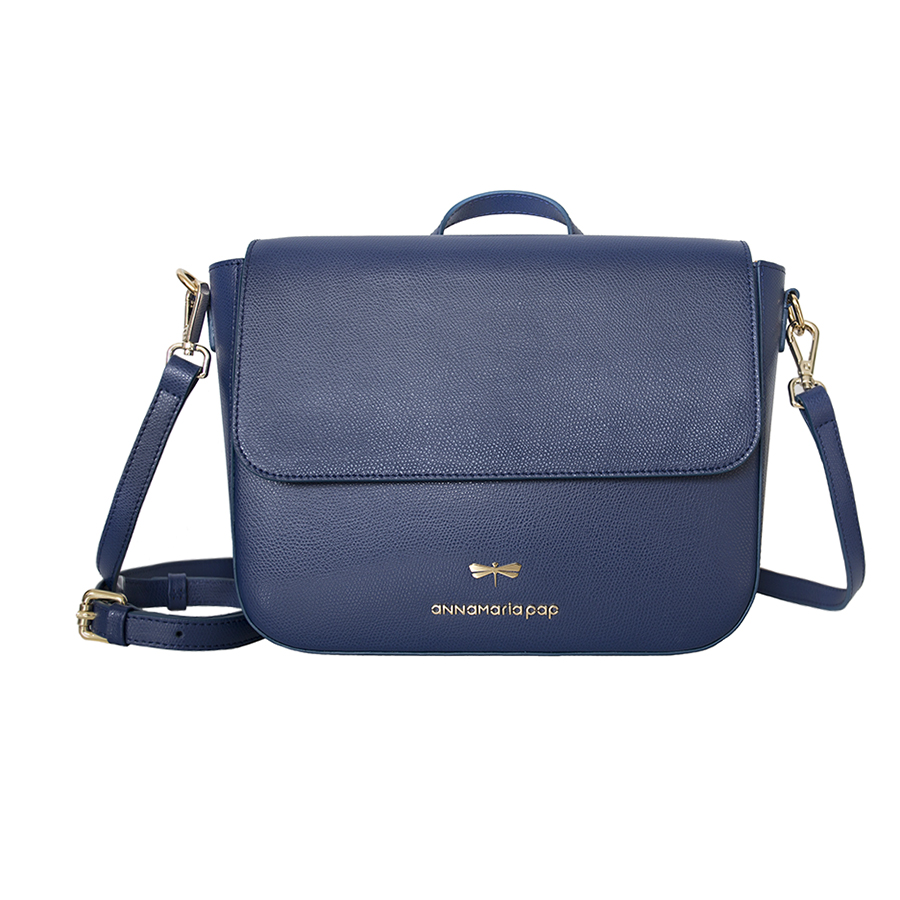 NINA Navyblue leather bag