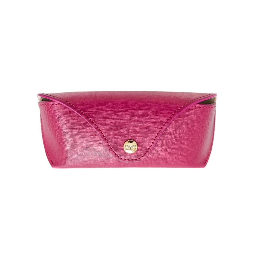 PAM Raspberry leather eyewear case