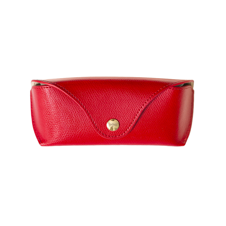 PAM Sour Cherry leather eyewear case